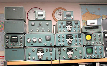 Heathkit equipment on display at W1SKU