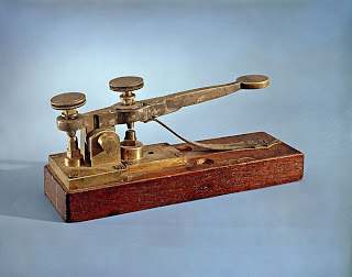 A replica of the key built by Alfred Vail as an improvement on Samuel Morse's original 'transmitter'.